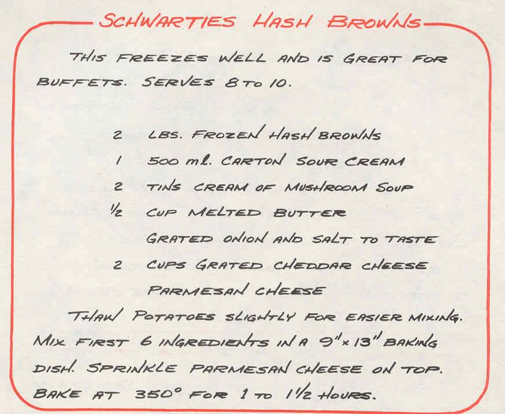 Schwarties Hash Browns - For some reason my family renamed this SchwartZies Hash Browns (it sounds better anyway!)