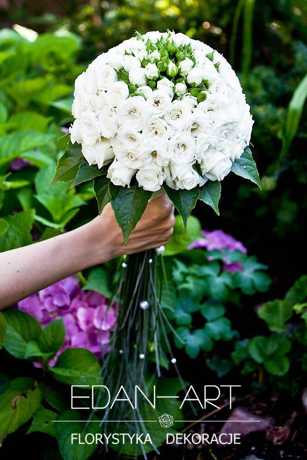 Bukiety Ślubne Edan-Art Mrągowo, Olsztyn, Warmińsko-Mazurskie, biały, ślub, róża, róża gałązkowa, trawa, #bukiet