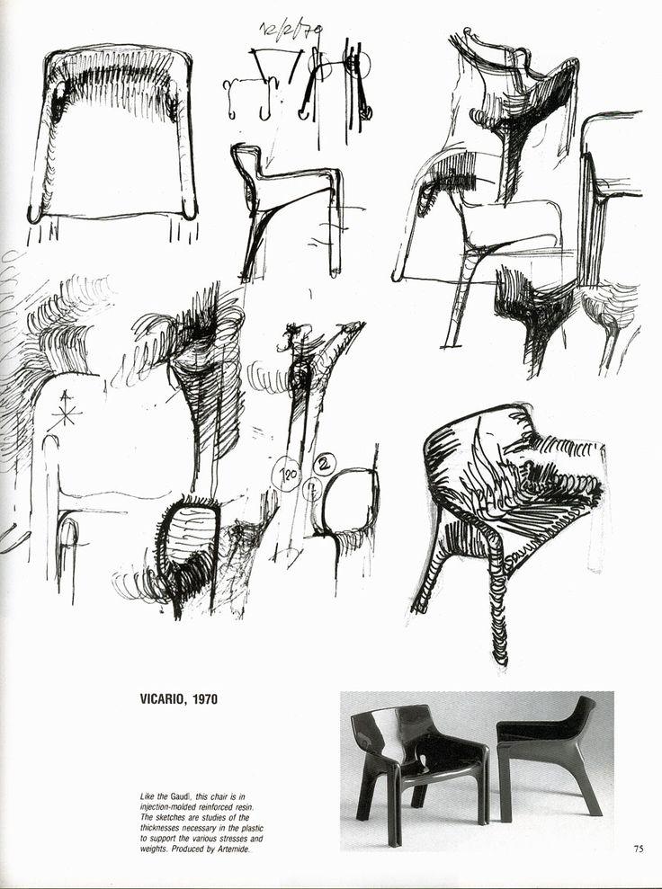 Vico Magistretti 1970 sketch