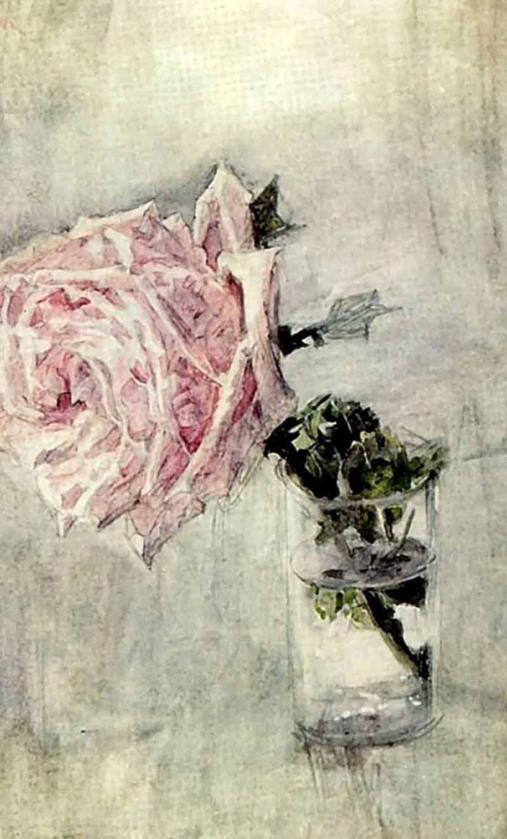 М. А. Врубель. Роза. 1904 Акварель. Государственная Третьяковская галерея..jpg
