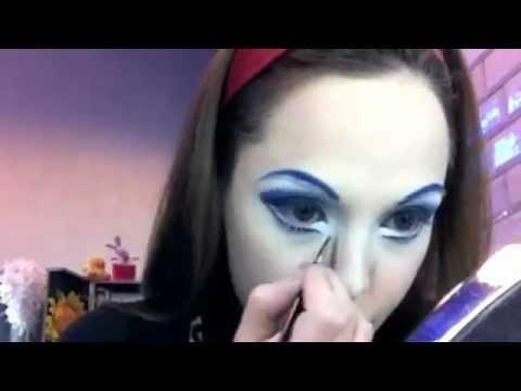 Makeup ALEGRIA- Cirque du Soleil black singer