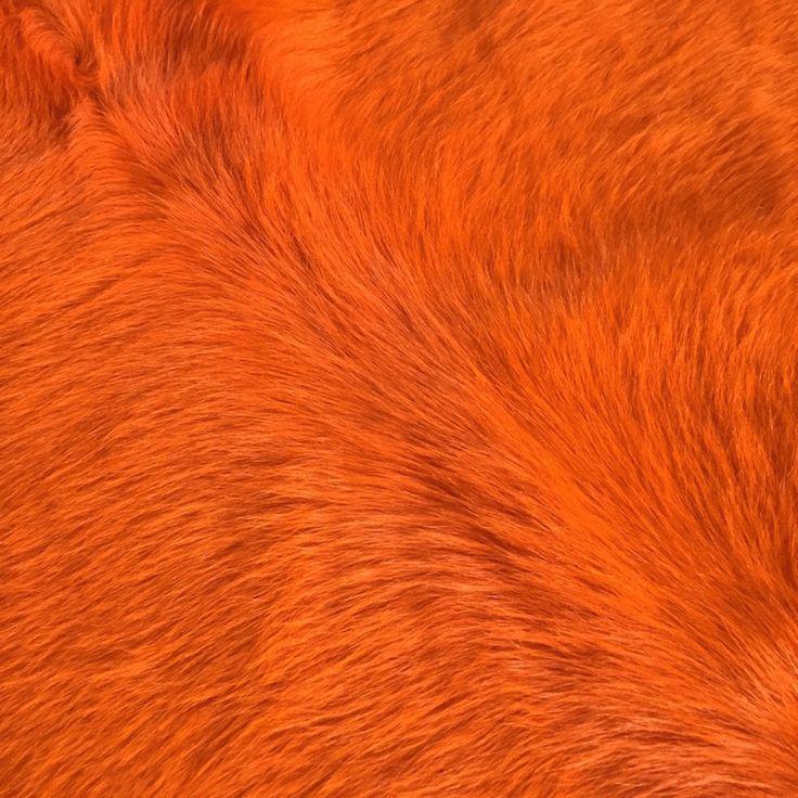Kuhfell Teppich Orange