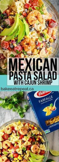 This Mexican pasta s This Mexican pasta salad with cajun shrimp...  This Mexican pasta s This Mexican pasta salad with cajun shrimp is perfect for summer - easy to make the whole family will love it and it can even be made ahead of time! #ad @BarillaCan Recipe : http://ift.tt/1hGiZgA And @ItsNutella  http://ift.tt/2v8iUYW