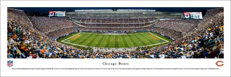 Chicago Bears Panoramic Picture - Soldier Field Stadium Panorama - Unframed $29.95