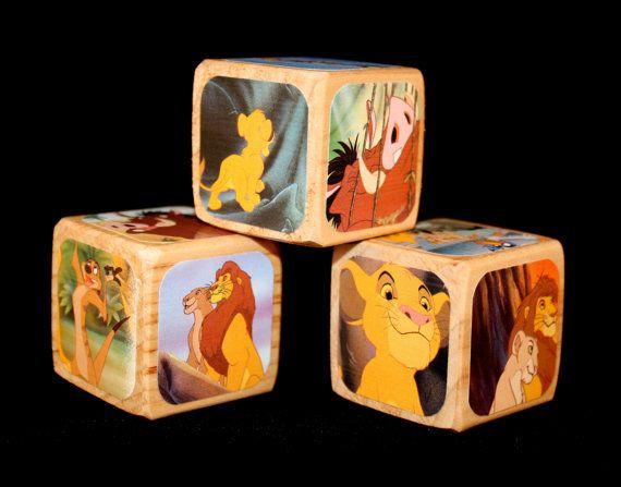 Childrens Decorative Wooden Blocks  The Lion King by Booksonblocks, $14.00