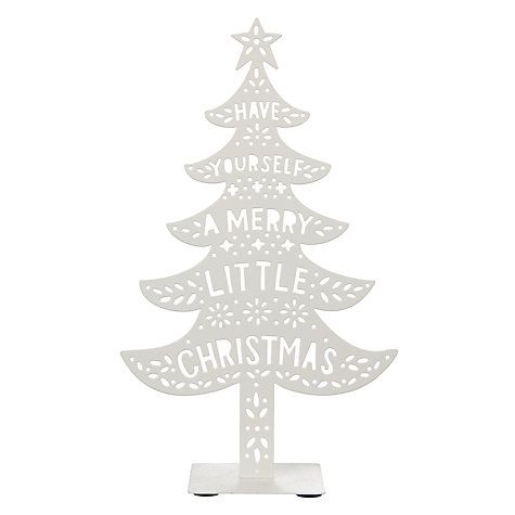 Buy John Lewis Chamonix 'Have Yourself A Merry Little Chirstmas' Tree Online at johnlewis.com