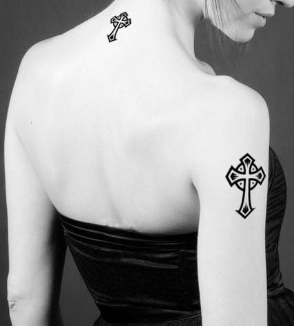 4 Pcs Waterproof Cross Tattoo Stickers - Tattoos - Body art Guess You Like It
