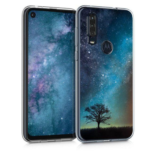 Besondere Merkmale Hulle Fur Motorola One Action Tpu Silikon Handy Schutzhulle Cover Case Galaxie Baum Wiese Desig In 2020 Handy Schutzhulle Schutzhulle Galaxien