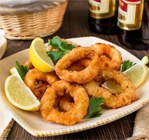 Crispy Deep Fried Calamari Rings recipe
