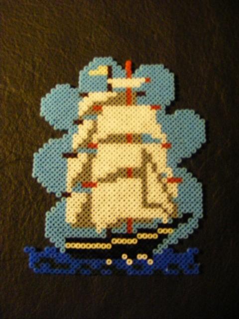 Perler Ship