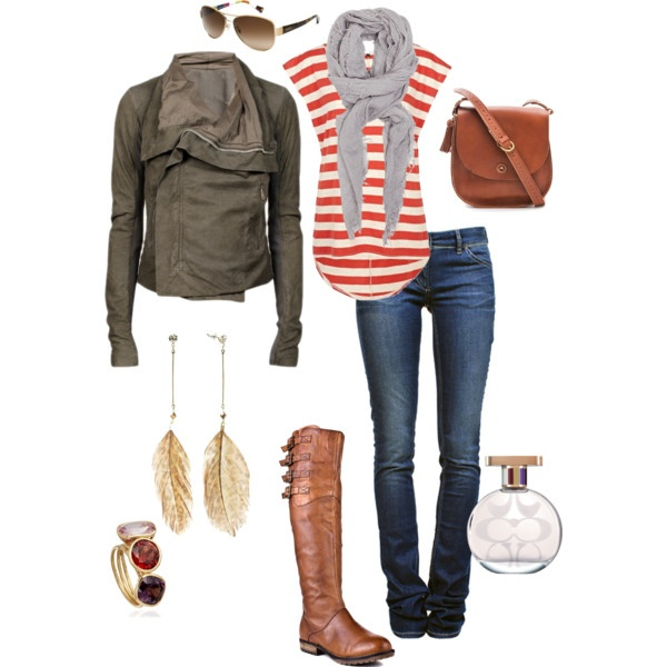 """""""Euro Trip"""" by wesche27 on PolyvoreStyle, Clothing, Fall Outfits, Fall Looks, Fall Fashion, Leather Jackets, Stripes, Boots, Dreams Closets"""