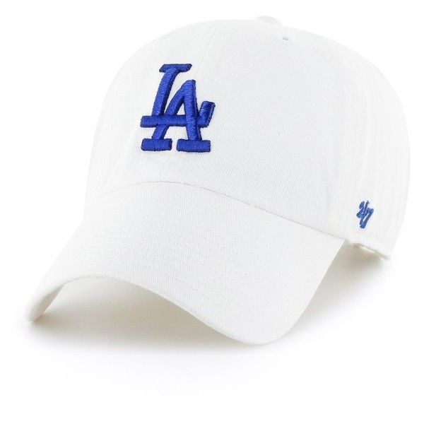 Women's '47 Clean Up La Dodgers Baseball Cap ($25) ❤ liked on Polyvore featuring accessories, hats, white, dodgers baseball cap, baseball caps, ball cap, dodgers hat and la dodgers hat
