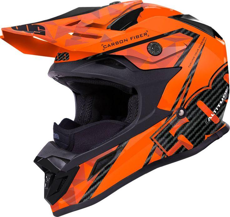 Altitude Carbon Fiber Helmet Orange Matte
