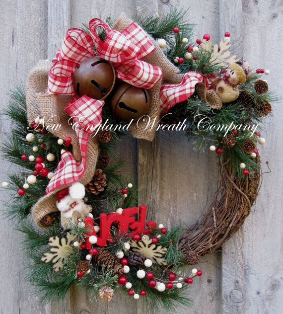 Noel Country Christmas Wreath by NewEnglandWreath