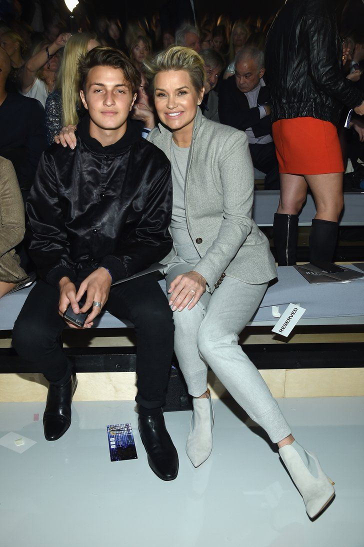 Pin for Later: All the Must-See Action From the 2015 Victoria's Secret Fashion Show  Pictured: Yolanda Foster and Anwar Hadid