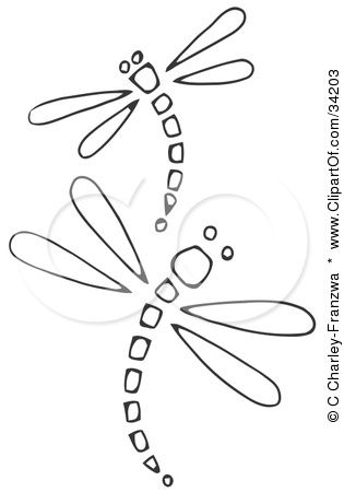 dragonfly line drawing - Google Search