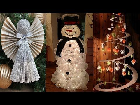 DIY ROOM DECOR! 26 Easy Crafts Ideas at Christmas for Teenagers | NEW YEAR DECOR 2018 - YouTube