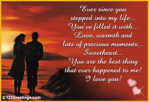 love my fiance poems | Since You Stepped Into My Life... Free Poems eCards, Greetings from ...