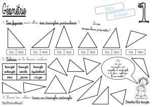 CM-Géométrie-Les triangles-Les fiches d'activité - laclassebleue