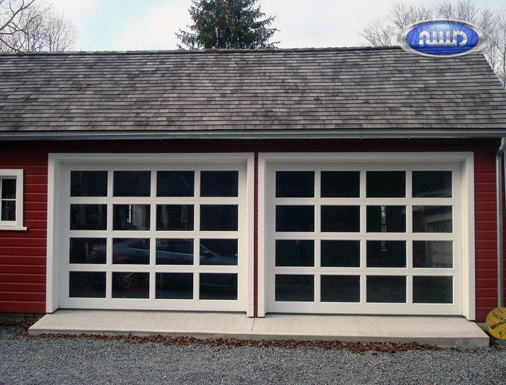 Modern Classic MC44 White PC Finish   Greylite Glass   Garage Doors