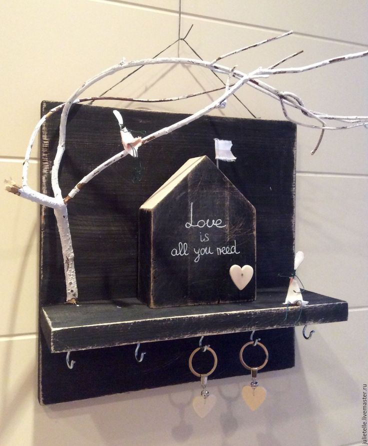 Купить Ключница - чёрно-белый, ключница ручной работы, оригинальный подарок, декор стен, хранение