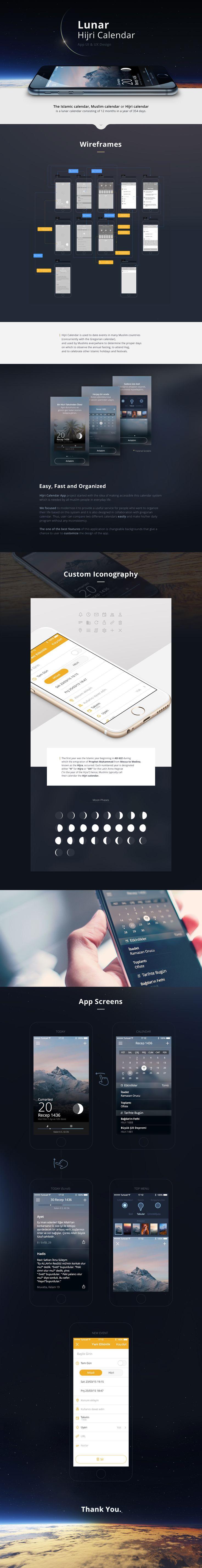 Lunar Calendar on Behance