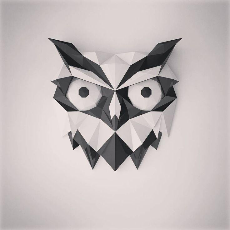 2 отметок «Нравится», 1 комментариев — мерзляков (@denismerzliakov) в Instagram: «#owl #cnc #bird #cinema #model #3d #art #low #poly #lowpoly #3dprint #design #3dprinting #gallery…»
