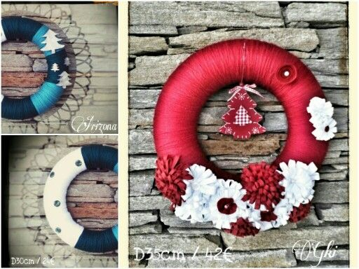Christmas wreaths with Christmas tree !!! D30 / 35