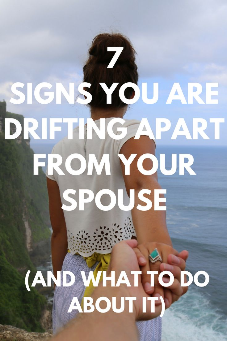 Growing apart in marriage or drifting away from your spouse can be terrifying. Discover the signs and what you can do to start growing together today. Re-pin now for later. #growingapartinmarriage #signs #driftingfromyourspouse
