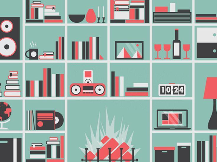 Bookshelf by Ollie Hoff (Norwich, UK)