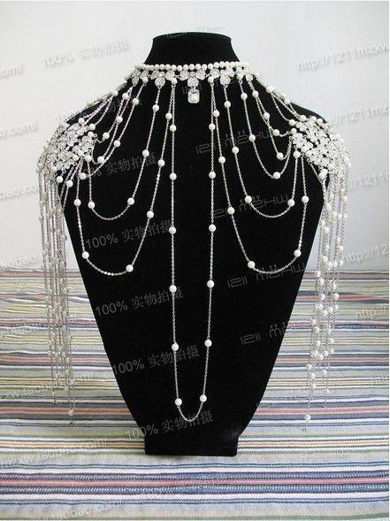 shoulder necklace   Aliexpress.com : Buy New Bride Costly Necklace Shoulder Chain Shoulder ...