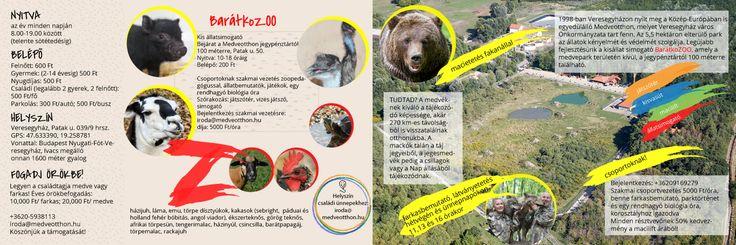 4th edition of brosure Bear Farm in Hungarian