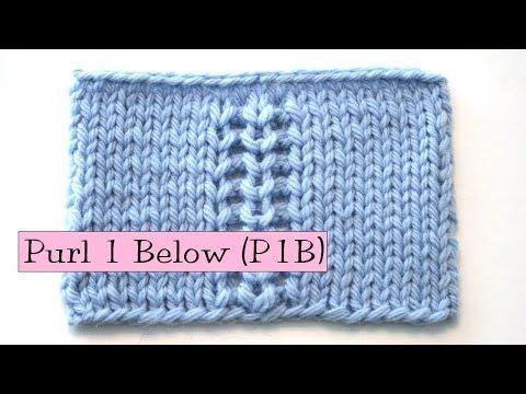 ▶ Knitting Help - Purl 1 Below (P1B) - YouTube