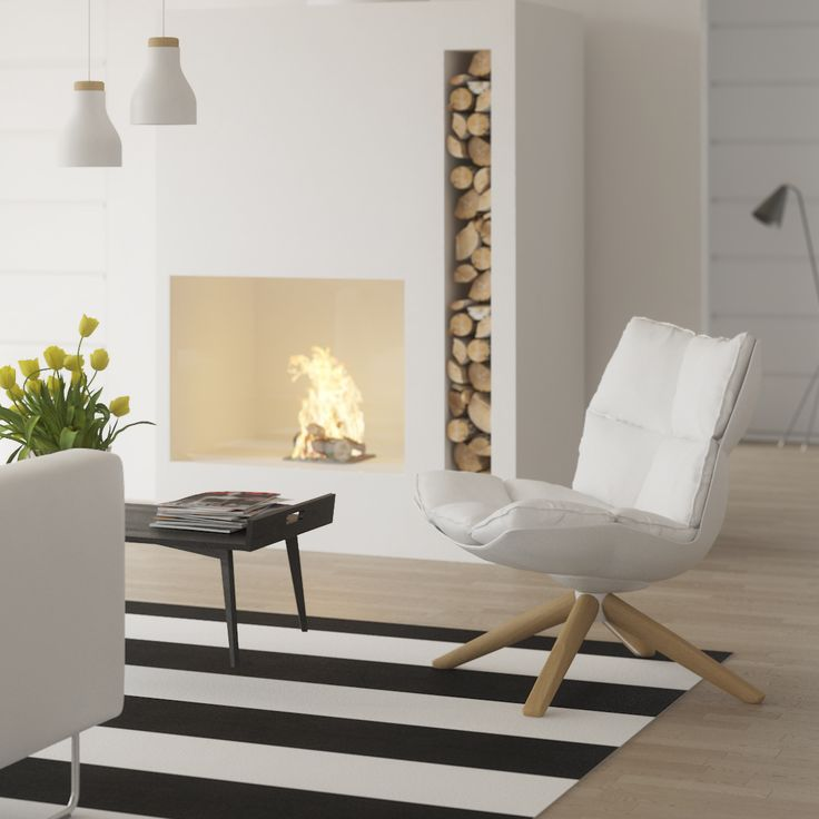 Honka Lounatuuli. A fresh and modern interior. Honka Log homes.