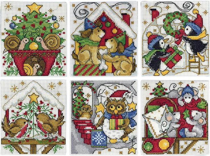 Everything Cross Stitch - Home For Christmas Ornaments