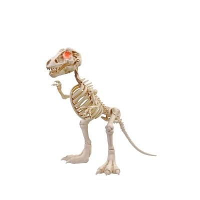 Home Accents Holiday 34 In Animated T Rex Skeleton With Led Eyes Products In 2019 Halloween Skeletons Spooky Decor Home Accents