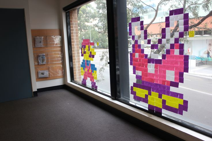 Post-it note art - Mario and Piranha plant