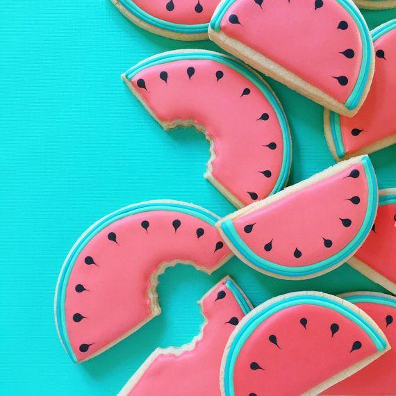 Galletas de azúcar de sandía por HollyFoxDesign en Etsy