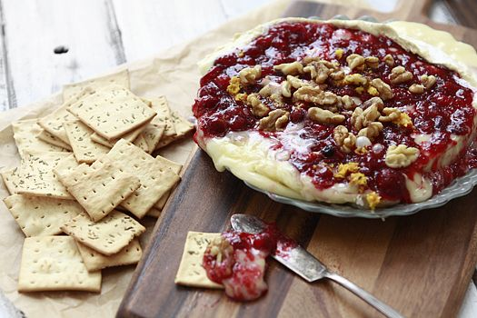 A Last Minute Appetizer: Baked Brie with Cranberry Sauce and Walnuts | Simple Bites