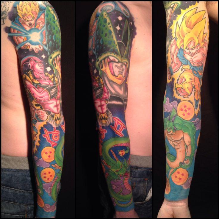 Dragon ball z tattoo sleeve full colour sleeve