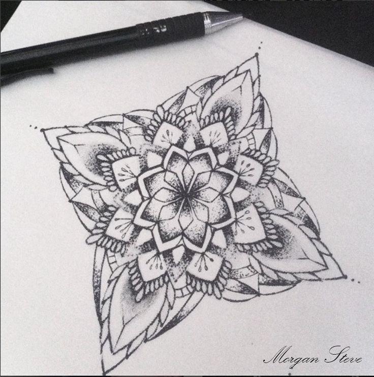 New drawing for tattoo! Art by Morgan Steve. Mandala <3