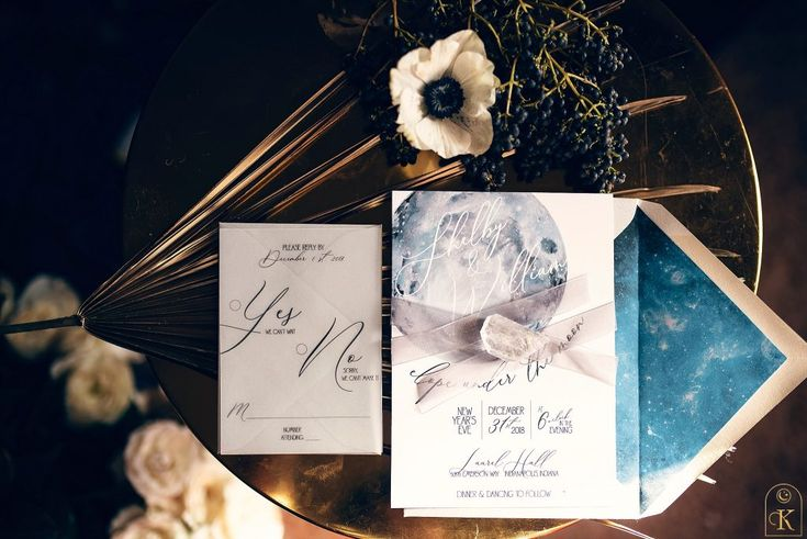 Wedding Invitations Indianapolis: Gorgeous Celestial Wedding Invitation For A New Year's Eve