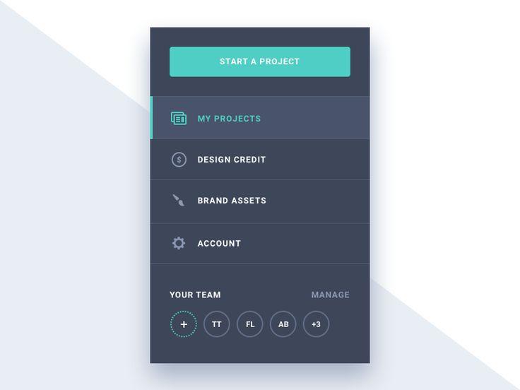 App sidebar menu