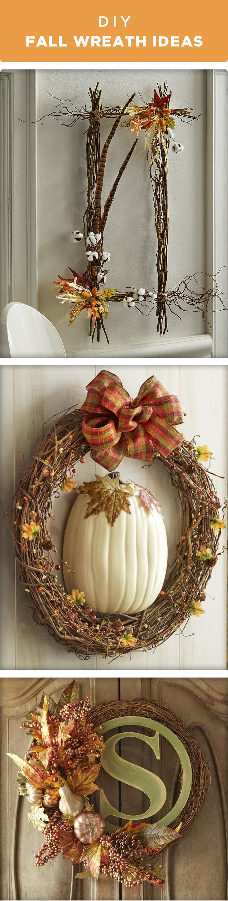 Welcome in Fall and your guests with one of these wreaths ideas that come together in just a few simple steps. Find everything you need to make these wreaths at your local Michaels store!