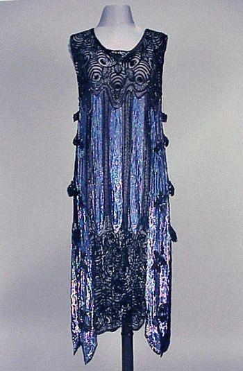 Iridescent Sequined Chemise Dress  1920s