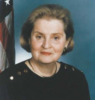 Madeleine Albright: b. 1937; Madeleine Albright was the first woman to become the United States Secretary of State. She was nominated by US President Bill Clinton, and was sworn in on January 23, 1997.  Albright currently serves as a Professor of International Relations at Georgetown University's Walsh School of Foreign Service. In May 2012, she was awarded the Presidential Medal of Freedom by President Barack Obama.