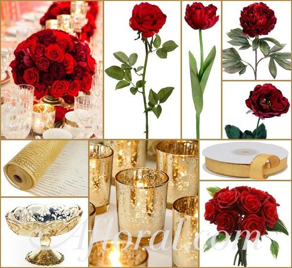 Gold Wedding Centerpiece Decorations: 1000+ Images About Red Wedding Flowers On Pinterest