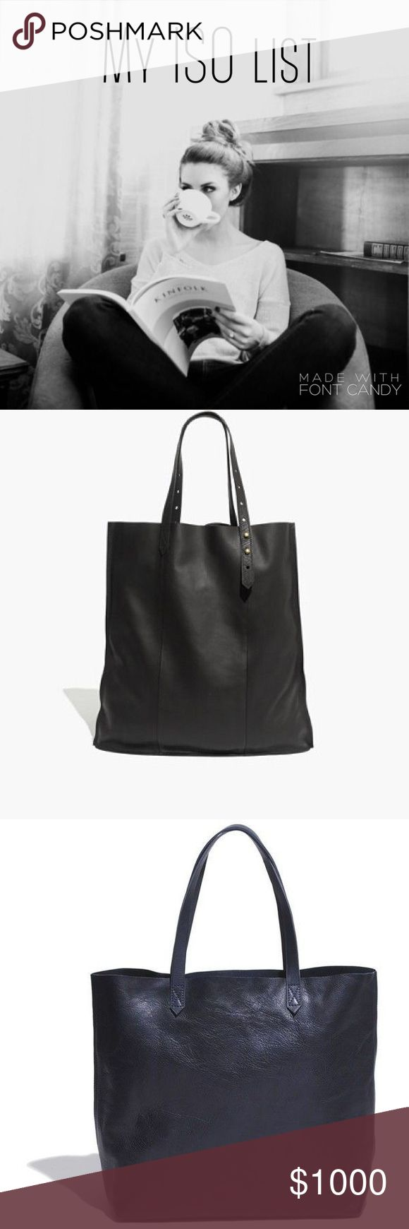 My In Search Of list Hi all! 👋🏻 Just a few things I'm looking for, the Madewell transport tote in navy, black or olive; the Madewell McCarren tote in black; the Madewell embroidered ivy tee in gray, size small; and Nike Tanjun sneakers, size 7.5 in black and white. Betcha can't tell I like Madewell or anything 😂 Thanks, everyone! Feel free to tag me in any listings that match these! Madewell Bags