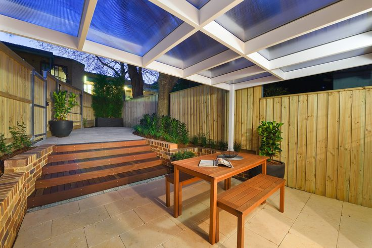 Outdoors, Timber, Exterior, Dusk, Awning, Tiles, Garden, Night, For Sale, Annandale, Real Estate, Pilcher Residential
