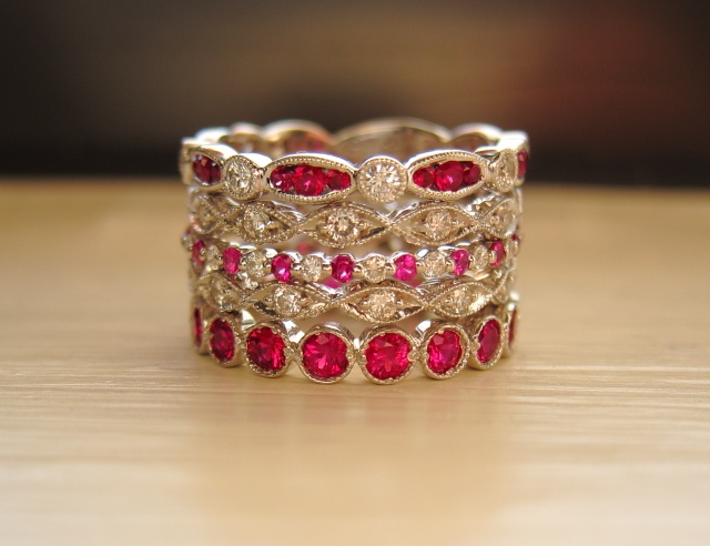 Ruby and Diamond stacking bands
